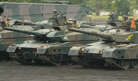 90式戦車と10式戦車