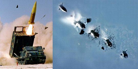 ATACMS発射-炸裂の瞬間