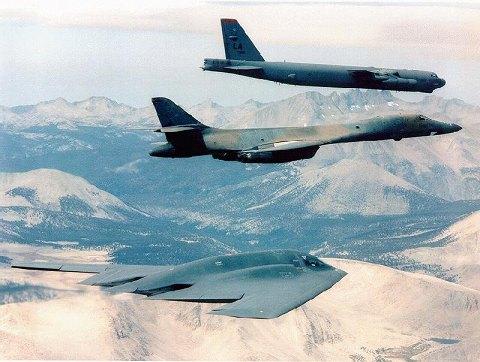 B-52、B-1、B-2